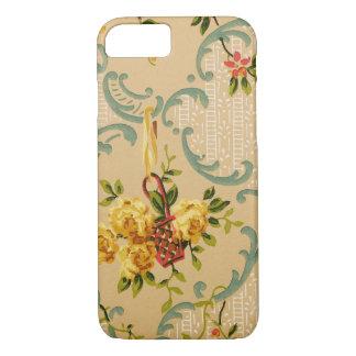 Antique Floral Decorative Wallpaper Pattern iPhone 7 Case