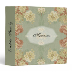 Antique Floral Design 1 Memories Family Binder