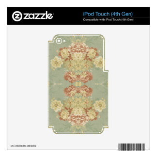 Antique Floral Design Electronics Skins For iPod Touch 4G