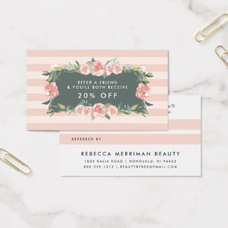 Antique Floral Frame | Referral Business Card