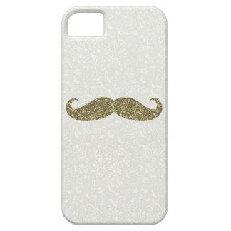 Antique Floral Mustache Design iPhone Case