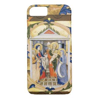 ANTIQUE FLORAL NATIVITY CHRISTMAS PARCHMENT iPhone 8/7 CASE