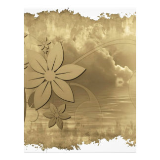 Antique Floral Paper Letterhead