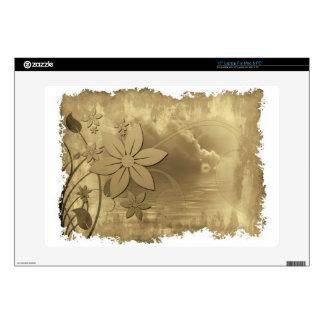 "Antique Floral Paper Decals For 15"" Laptops"