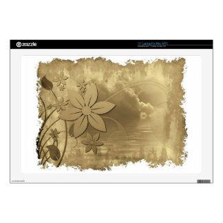 "Antique Floral Paper 17"" Laptop Skin"