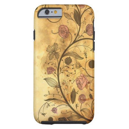 Antique Floral Pattern iPhone 6 Case