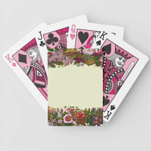 Antique Floral Wreath Card Deck