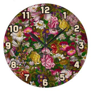 Antique Floral Wreath Clocks