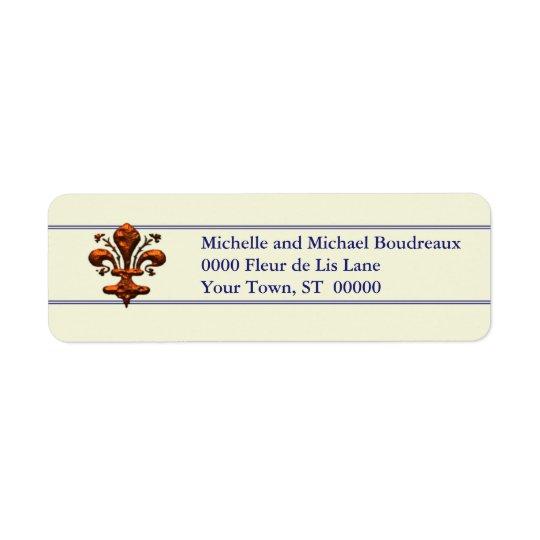 Antique Florence Style Fleur de Lis Label