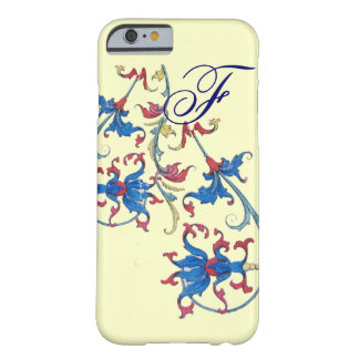 ANTIQUE FLORENTINE FLORAL MOTIFS MONOGRAM,Cream Barely There iPhone 6 Case