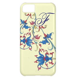ANTIQUE FLORENTINE FLORAL MOTIFS MONOGRAM,Cream iPhone 5C Cases