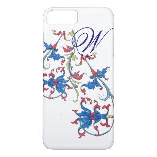 ANTIQUE FLORENTINE FLORAL MOTIFS MONOGRAM iPhone 8 PLUS/7 PLUS CASE
