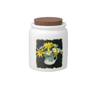 Antique Flower Arrangement Jar Candy Jar