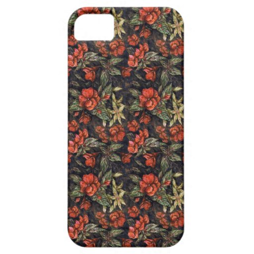 Antique Flowers by Alexandra Cook aka Linandara iPhone 5 Case