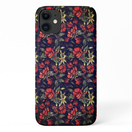 Antique Flowers by Alexandra Cook aka Linandara iPhone 11 Case