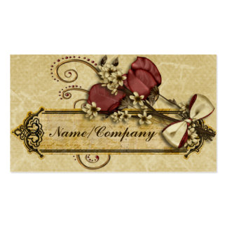 Antique Flowers Double-Sided Standard Business Cards (Pack Of 100)
