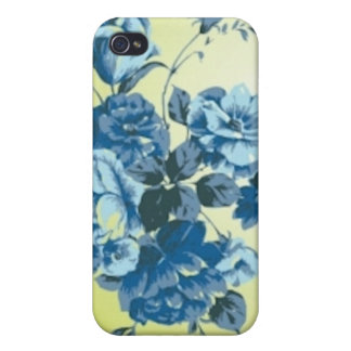 Antique Flowers Hard Shell Case for iPhone 4 4S