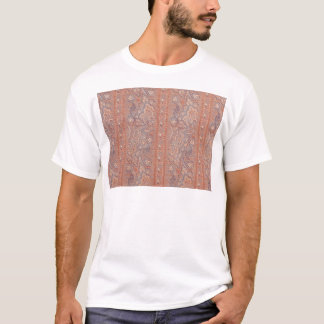 Antique Flowers Lace Pattern Brown Rose Gold Color T-Shirt