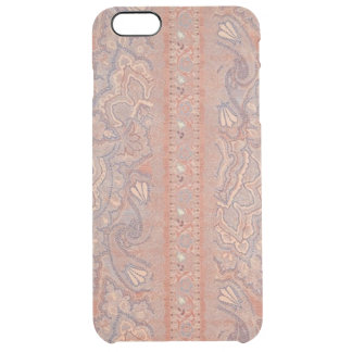 Antique Flowers Lace Pattern Brown Rose Gold Color Uncommon Clearly™ Deflector iPhone 6 Plus Case