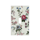 Antique Flowers Light Switch Plate