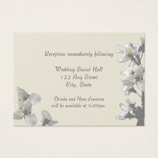 Antique Flowers/ Reception Card