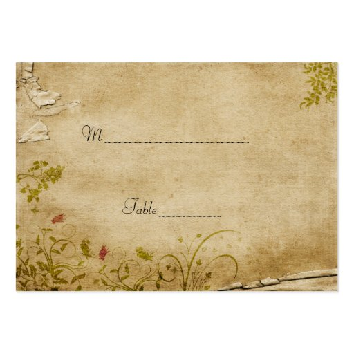 Antique Flowers Table Place Card