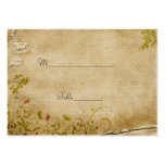 Antique Flowers Table Place Card Business Card Templates