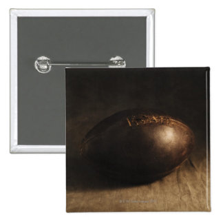 Antique football 2 inch square button