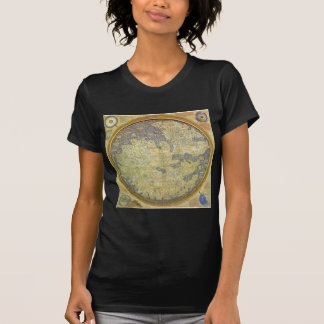 Antique Fra Mauro Map Asia Africa Europe T-Shirt