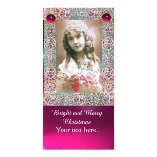 ANTIQUE FRAME,ANGELS,PRECIOUS JEWELS,PINK GEMS CARD