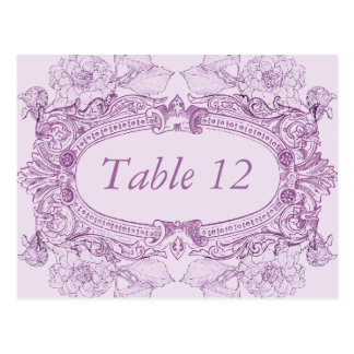 Antique Frame Lilac Table Number Card