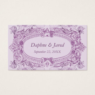 Antique Frame Lilac Wedding Placecard Business Card