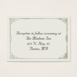 Antique frame Wedding enclosure cards