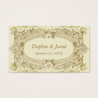 Antique Frame Wedding Placecard Business Card