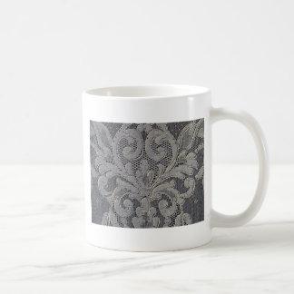 Antique French Alencon Lace Coffee Mug