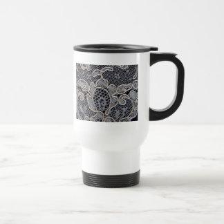 Antique French Alencon Lace Travel Mug