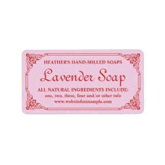 Antique French Border Lavender Soap Label Template Address Label