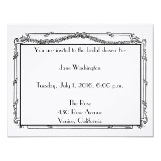 Antique French Bridal Shower Invitation