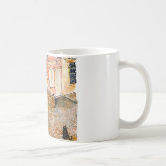 Antique French car on antique French street Coffee Mug