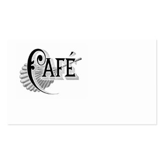 Antique French Coffee Cafe Logo Business Cards