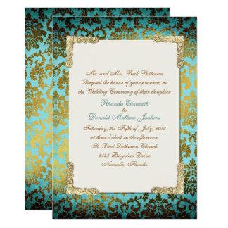 Antique French Damask Wedding Invitation
