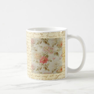 Antique French Floral Toile Coffee Mug