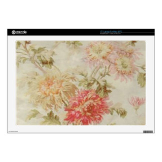 "Antique French Floral Toile Decals For 17"" Laptops"