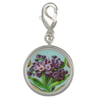 Antique French Heliotrope Charm