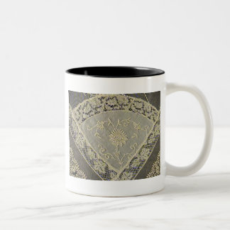 Antique French Normandy lace Two-Tone Coffee Mug