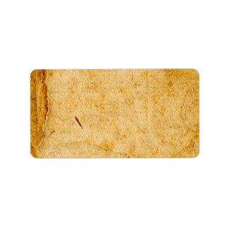 Antique French Paper Parchment Background Texture Label