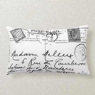 Antique French Postcard Stamps Paris Pillow