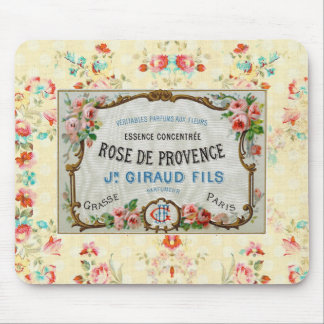 Antique French Rose Advertisement Mouse Pad
