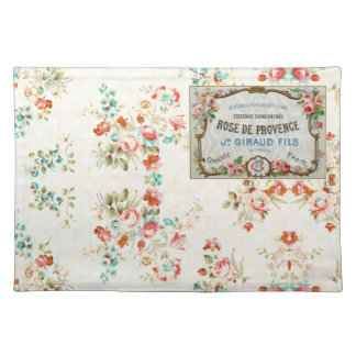 Antique French Rose Advertisement Place Mats