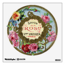 Antique French Rose Perfume Wall Decal